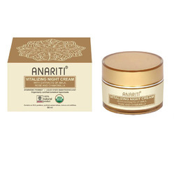 Anarirti Night Cream Vitalizing - Крем ночной Восстанавливающий Для лица и шеи c экстрактами амлы, розы и ромашки 50 мл