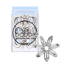 Invisibobble NANO Crystal Clear - Резинка-браслет для волос 3 штуки