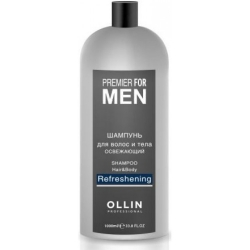 Ollin Premier For Men Shampoo Hair&Body Refreshening - Шампунь для волос и тела освежающий 1000 мл