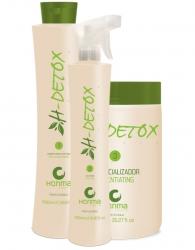 Honma Tokyo H-Detox - Набор очищение кожи головы и восстановление волос, 2*1000 мл+500 мл