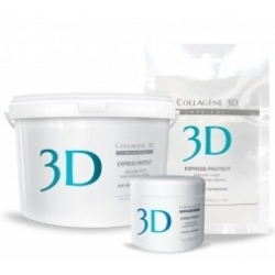 Medical Collagene 3D Express Protect - Альгинатная маска для кожи с куперозом, 200 г