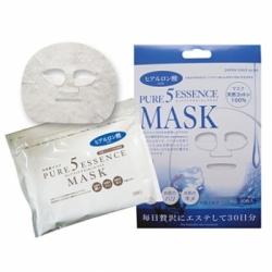 Japan Gals Pure 5 Essence - Маска для лица с гиалуроновой кислотой, 1 шт