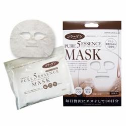 Japan Gals Pure 5 Essence - Маска для лица с коллагеном, 1 шт