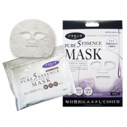 Japan Gals Pure 5 Essence - Маска для лица с плацентой, 1 шт