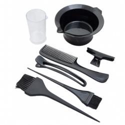 Sibel - Набор для  окраски волос(миска, 2 кисточки, 2 зажима, расческа, мерн. стакан)