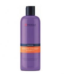 Indola Keratin Straight Shampoo – Кератиновое выпрямление шампунь 300 мл