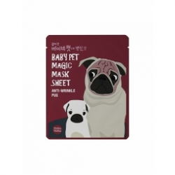 Holika Holika Baby Pet Magic Mask Sheet (Anty-wrinkle Pug) - Тканевая маска-мордочка против морщинок (Мопс), 22 мл*SALE