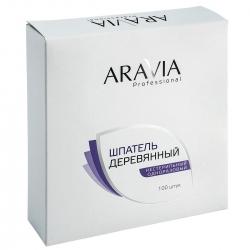 Aravia Professional - Шпатели деревянные одноразовые, 100 шт/уп