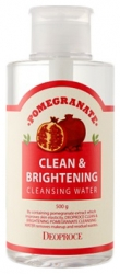 Deoproce Pomegranate Clean & Brightening Pomegranate Cleansing Water - Вода очищающая с экстрактом граната, 500 гр