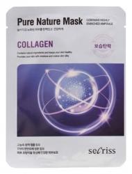 Anskin Secriss Pure Nature Mask Pack- Collagen - Маска для лица тканевая с коллагеном, 25мл