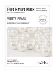 Anskin Secriss Pure Nature Mask Pack- White pearl- Маска для лица тканевая с экстрактом жемчуга, 25мл