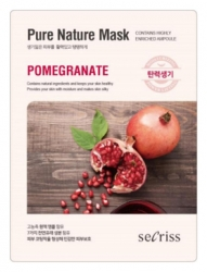 Anskin Secriss Pure Nature Mask Pack- Pomeganate- Маска для лица тканевая с экстрактом граната, 25мл