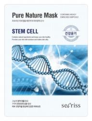 Anskin Secriss Pure Nature Mask Pack- Stem cell - Маска для лица тканевая стволовые клекти, 25мл