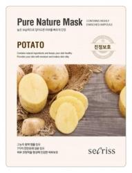 Anskin Secriss Pure Nature Mask Pack- Potato - Маска для лица тканевая с картофелем, 25мл