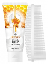 Double Dare OMG! Honey Milk Drop Face Wash with White I.M. Buddy - Медовый гель 90 мл+массажная силиконовая щетка