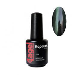 Kapous Lagel Гелевый лак «Cat eye» зеленый 15 мл