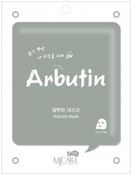 Mijin MJ Care Arbutin Mask - Маска тканевая с арбутином, 22 г