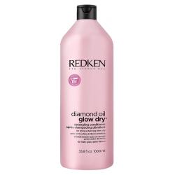 Redken Diamond Oil Glow Dry - Кондиционер для для легкости расчесывания волос, 1000 мл