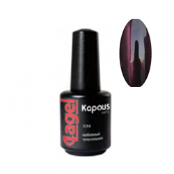 Kapous Lagel Гелевый лак «Cat eye» сливовый 15 мл