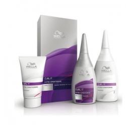 Wella Curl It Extra Conditioning Mild Kit - Набор с мягкой формулой для окрашенных и чувствительных волос 30мл+75мл+100мл
