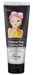 Fascy Bubble Tina Charcoal Pore Cleansing Foam - Пенка для очищения с древесным углем 150 мл