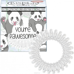 Invisibobble Original You're Pawesome! - Резинка для волос молочный, 3 шт
