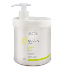 Nouvelle double effect nutritive mask - Оживляющая маска для волос (с кератином), 1000 мл