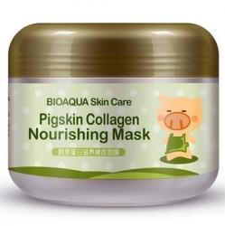 Bioaqua Pigskin Collagen - Маска питательная для лица с коллагеном, 100 г