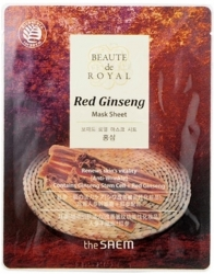 The Saem Beaute de Royal Mask Sheet-Red Ginseng - Маска гидрогелевая с экстрактом женьшеня, 20 мл