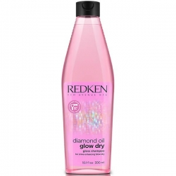 Redken Diamond Oil Glow Dry - Шампунь для блеска волос, 300 мл
