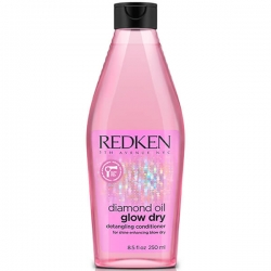Redken Diamond Oil Glow Dry - Кондиционер для легкости расчесывания волос, 250 мл
