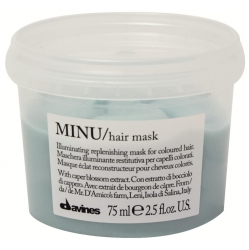 Davines Essential Haircare Minu Hair Mask - Восстанавливающая маска для окрашенных волос, 75 мл