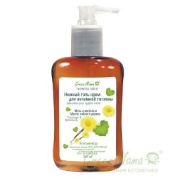 Green Mama Формула тайги - Нежный крем-гель для интимной гигиены Мать-и-мачеха и чайное дерево, 300 мл