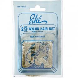 Sibel - Сеточка-паутин. для прически коричневая,  2 шт