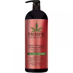 Hempz Sweet Pineapple & Honey Melon Volumising Conditioner - Кондиционер растительный Ананас и Медовая Дыня, 1000 мл