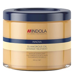 Indola Glamorous Oil Treatment – Восстанавливающая смываемая маска «Чарующее сияние» 200 мл
