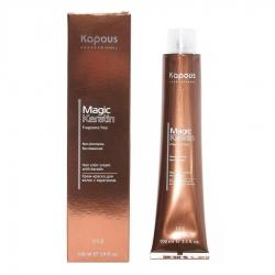 Kapous Fragrance Free Non Ammonia Magic Keratin - Крем-краска для волос, NA 4.81 коричнево-пепельный, 100 мл