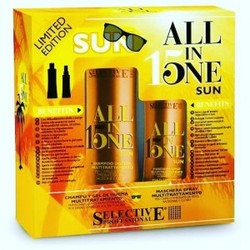 Selective Professional All in one sun - Набор: шампунь +  маска-спрей, 250+150 мл
