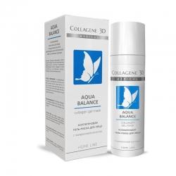 Medical Collagene 3D Aqua Balance - Коллагеновая гель-маска для обезвоженной кожи со сниженным тургором, 130 мл