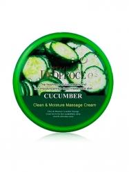 Deoproce Natural Skin Cucumber Nourishing Cream - Крем для лица и тела на основе экстракта огурца, 100 г
