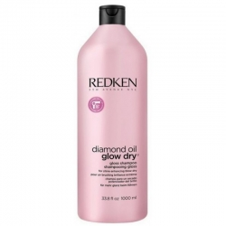 Redken Diamond Oil Glow Dry - Шампунь для блеска волос, 1000 мл