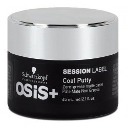 Schwarzkopf Osis Session Label Coal Putty - Суперэластичная матирующая глина, 65 мл