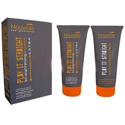 Nouvelle Play It Straight Extra + Neutralizer Kit - Крем для распрямления нормальных волос + нейтрализатор (набор), 2*200 мл. Общий объем: 400 мл