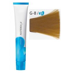 Lebel Cosmetics Materia µ - Полуперманентная краска для волос, G8 светлый блонд желтый 80 гр