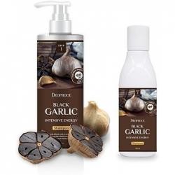 Deoproce Black Garlic Intensive Energy Shampoo - Шампунь от выпадения волос с экстрактом чёрного чеснока, 200 мл