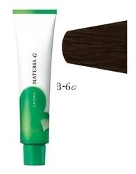 Lebel Cosmetics Materia g - Перманентная краска для седых волос, B-6 темный блонд коричневый 120 гр