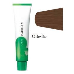 Lebel Cosmetics Materia g - Перманентная краска для седых волос, OBE-8 светлый блонд оранжево-бежевый 120 гр