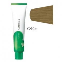 Lebel Cosmetics Materia g - Перманентная краска для седых волос, G-10 яркий блонд желтый 120 гр