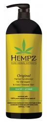 Hempz Hair Care Original Herbal Conditioner For Damaged Color Treated Hair - Кондиционер оригинальный для поврежденных окрашенных волос, 1л