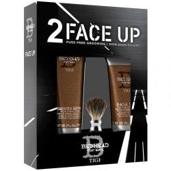 TIGI Bed Head For Men Face Up 2-  Набор мужской (крем д/бритья+лосьон п/бритья+помазок)